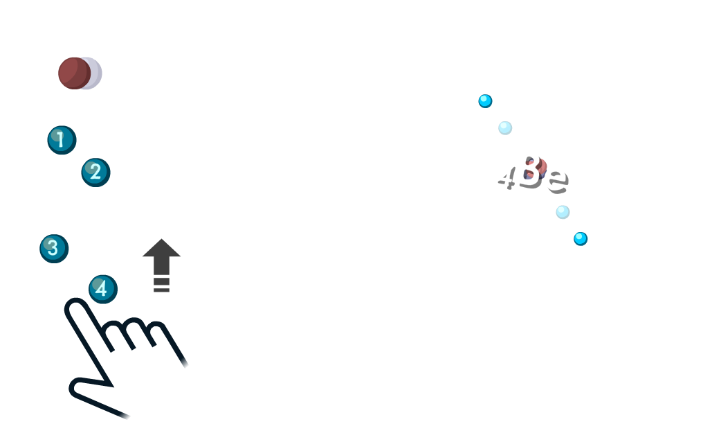 Atoms game - player adds an equal number of protons and electrons to build a Be atom.