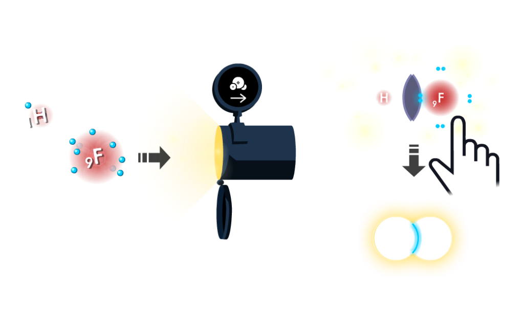 Player uses a low electronegativity atom (helium) and a high electronegativity atom (fluorine) from the Atoms game to form a very polar bond to match the bond polarity of the target.